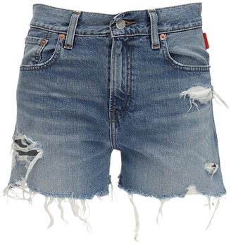Denimist Karen Mid Rise Denim Cutoff Shorts