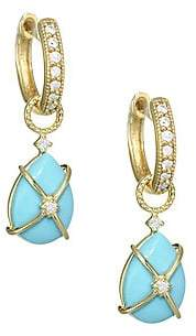 Jude Frances Women's Diamond, Turquoise & 18K Yellow Gold Earring Charms