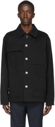 Acne Studios Black Twill Four-Pocket Chore Jacket