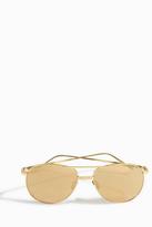 Linda Farrow Luxe Aviator Double Bridge Sunglasses