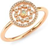 Astley Clarke 14K Rose Gold, Diamond & Opal Medium Ring