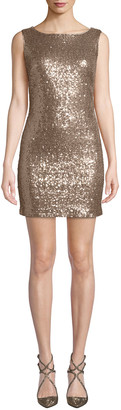 Jay X Jaygodfrey Cowl-Back Sequin Mini Dress