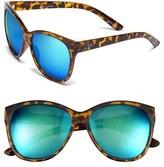 Quay Women's 'About Last Night' 59Mm Retro Sunglasses - Tort/ Blue Mirror