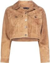Giuseppe Zanotti oversized cropped jacket