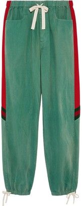 Gucci Denim Drawstring Track Pants