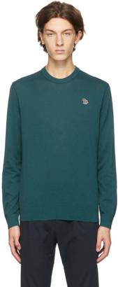 Paul Smith Green Zebra Logo Sweater