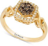 LeVian Le Vian Chocolatier® Diamond Twist Ring (1/3 ct. t.w.) in 14k Gold