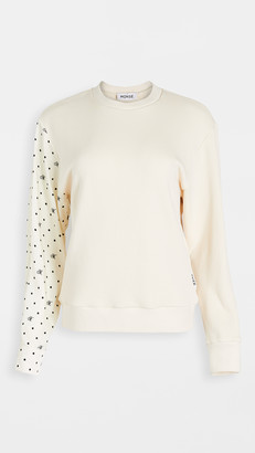 Monse M Dot Shirt Sleeve Sweatshirt