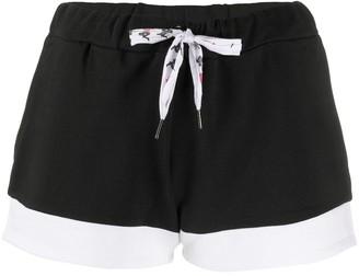 Kappa Logo Print Colour Block Shorts