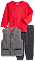 First Impressions Baby Boys' 3-Pc. Cable-Knit Vest, T-Shirt & Jogger Pants Set, Only at Macy's