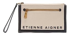 Etienne Aigner Faye Small Linen Convertible Crossbody Wristlet