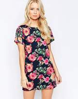 Iska Shift Dress in Tapestry Floral Print