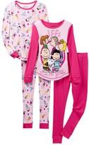 Komar Peanuts BFFs Make Me Smile Cotton PJs - Set of 2 (Toddler Girls)