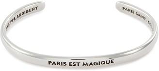 Philippe Audibert 'Paris est Magique' slogan cuff