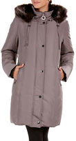 Bianca Nygard Long Down Coat with Decorative Belt