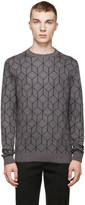 Christopher Kane Grey Mohair 3D Cube Sweater