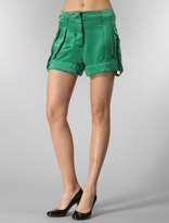 Fm Silk Square Short in Green