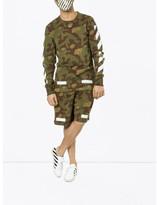 Off-White camouflage shorts