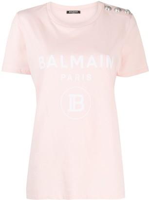Balmain logo print T-shirt