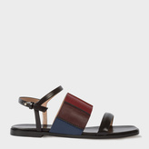 Paul Smith Women's Black Colour-Block Leather 'Constance' Sandals