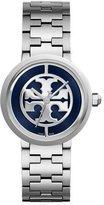 Tory Burch Three-Link Reva Bracelet Strap Watch, Navy