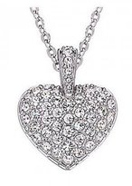 "Swarovski SS PUFFY HEART"" Necklace with Pendant"