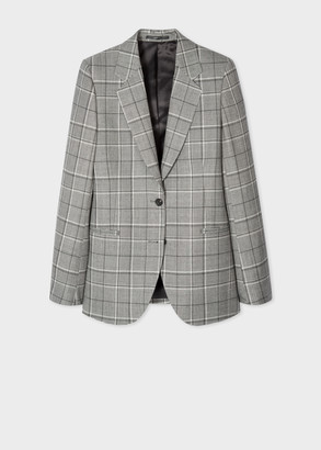 Paul Smith Women's Grey Prince Of Wales Check Wool-Blend Blazer