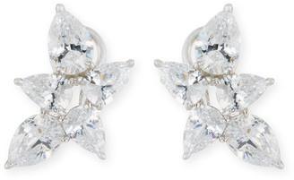 FANTASIA Pear-Shaped CZ Cluster Earrings