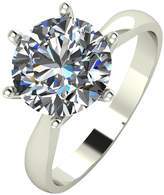 Moissanite 9ct Gold 3ct eq Solitaire Ring