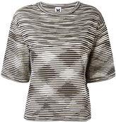 M Missoni striped knitted top - women - Cotton/Polyamide/Viscose/Metallized Polyamide - M