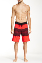 Burnside Striped Stretch Board Short