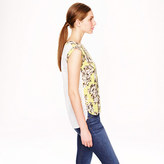 J.Crew Sleeveless drapey top in photo floral and eyelet