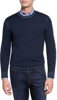 Michael Kors Washed Merino Crewneck Sweater