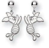 Disney Sterling Silver Piglet Dangle Post Earrings