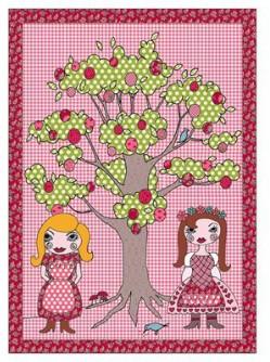 Room Seven - Pink Dolls Quilt - Pink/Brown/Green