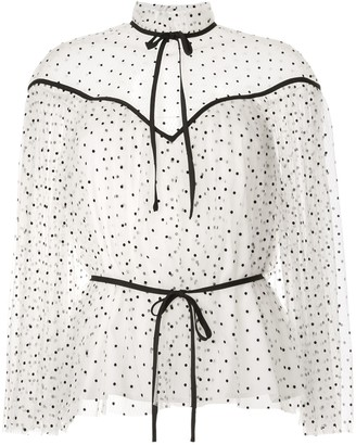 Alice McCall Space Odyssey pin-dot blouse