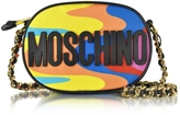 Moschino Multicolor Print Nylon Crossbody Bag w/Logo