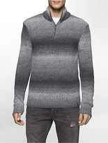 Calvin Klein Mens Space Dyed Quarter Zip Sweater