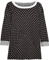 DKNY Printed Stretch-modal Jersey Pajama Top