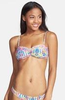 Billabong 'Guatemala' Print Strap Detail Bandeau Bikini Top (Juniors)