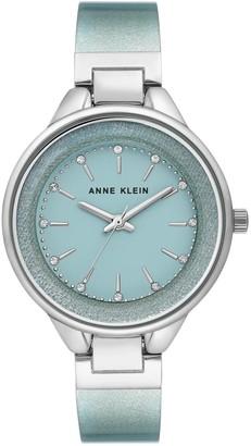 Anne Klein Womens Shimmering Mint Semi-Bangle Bracelet Watch