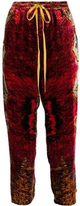 Pierre Louis Mascia Cropped Velvet Trousers