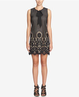 CeCe Rosie Lace Tie-Neck Shift Dress