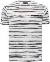 M&Co Painted stripe print t-shirt