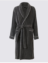 David Gandy For Autograph Pure Cotton Long Sleeve Dressing Gown with Belt