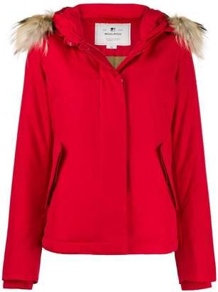 Woolrich faux fur trimmed hooded jacket