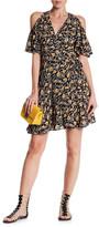 Angie Cold Shoulder Wrap Print Dress
