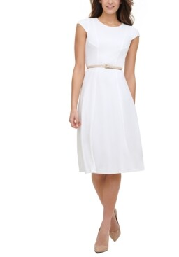Tommy Hilfiger Fit & Flare Cap-Sleeve Dress