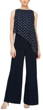 SL Fashions Asymmetrical Overlay Jumpsuit