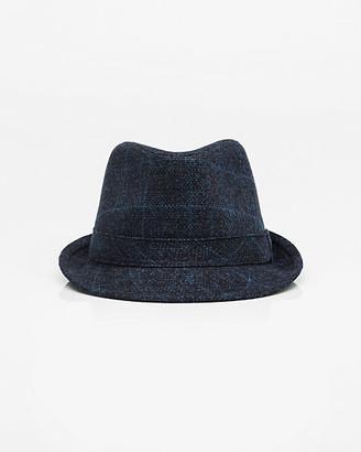 Le Château Check Print Flannel Fedora Hat